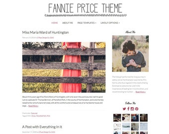 Minimal Wordpress Template for Bloggers - Black and Pink