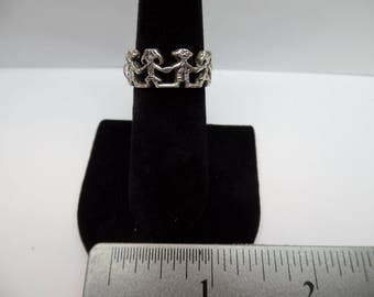 Vintage Sterling Silver Figure Ring / FAM
