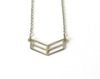Minimalist geometric stainless steel necklace