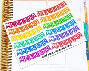 Weekend Banners -Weekend Stickers -  Planner Stickers