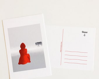 "Postcard ""Little Red Riding Hood""  / nursery room / birth / children"