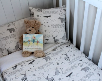 Water Colour Woodland themed cot set