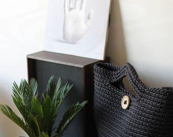 Dark Gray Crocheted ToTe Bag