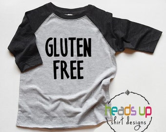 Gluten Free Shirt Raglan Toddler Boy/Girl - Celiac Disease tshirt - Funny Allergy Shirt Gluten Free - Baby Bodysuit Gluten Free - Trendy Kid