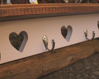 Hallway coat hanger - heart themed