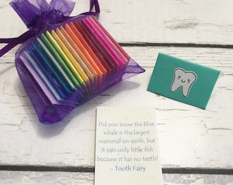 20 assorted mini tooth fairy notes for all of your baby's teeth!