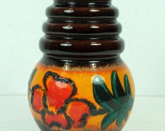 VASE wgp scheurich wien 1960's 1970's fat lava flowers