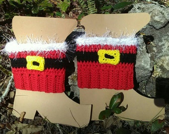 Boot cuff, Santa , boot topper, boot sock