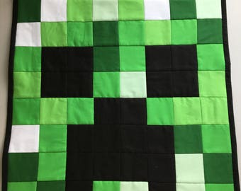 Quilted Minecraft Creeper Wall Hanging