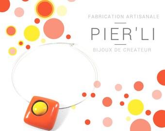 Necklace Orange and Yellow © PIER'LI