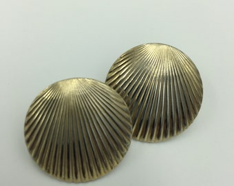 Gold Tone Shell Design Post Earrings    BUY 3 Get 1 FREE