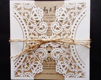 Rustic Elegance Invitation SAMPLE