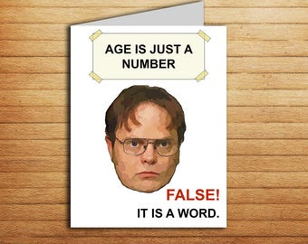 The Office tv show Birthday Card Printable The Office cards Birthday gift for coworker Funny meme Dwight Schrute Michael Scott Jim Halpert