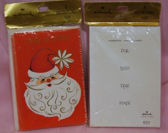 Vintage Christmas Party Invitations.Unopened.2 Pkgs of 8.