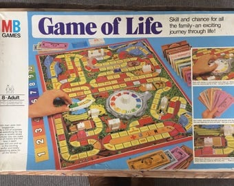 Game of life, 1970s board game, kitsch game, retro game, vintage toys, MB games, money game