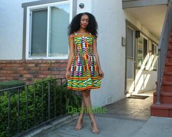 African print dress, Ankara dress, Kente dress (Please read item details)