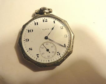 1919  Elgin Pocket Watch Size 10 or 43mm  7 Jewel