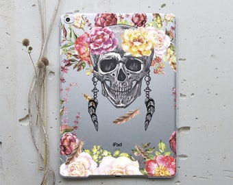 Skull Flower iPad Case iPad 2 Case iPad 4 Case iPad Mini 2 Case iPad Mini 3 iPad 4 Mini iPad Air 2 Case iPad Pro 9.7 Case Hard Case WC4041