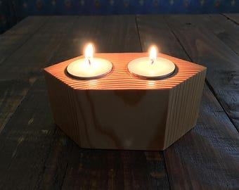 Tea Light Candle Holder, Candle Holder, Tea Light Candle, Rustic Candle Holder, Wood Tea Light Holder, Wood Candle Holder