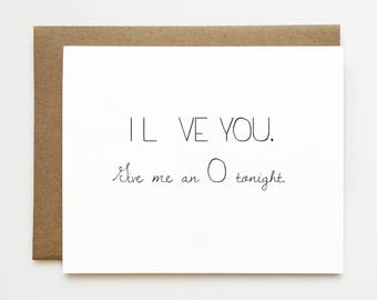 Dirty anniversary card for boyfriend, Naughty I love you card, Funny Valentine's day card, Cheeky anniversary card, Love card, Card for him