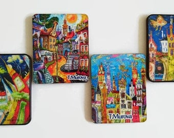 Tatyana Murova, T Murova, magnets of houses ,fantasy house magnet ,fridge magnets ,magnets of art, Murova magnets, house magnets
