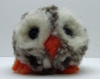 Cute Needle felted Tawny Owl Collectible OOAK Artist-made Gill Lait Art - Elbert