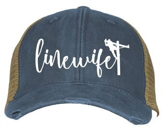Linewife Lineman's Wife Trucker Hat Ballcap