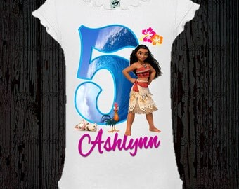 Moana Birthday Shirt