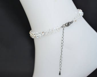 Swarovski crystal anklet bracelet light moonlight