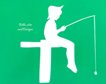Boy Silhouette stencils (price is per photo/design)  *Free gift with every order*