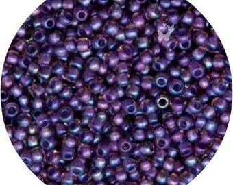 Size 11/0, Rainbow Rosaline Opaque Purple Lined (TR-11-928), Japanese TOHO, Glass Seed Beads (10 Grams), 2mm DIY Jewelry, Bead Supply