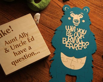 Ring Bearer Puzzle, Bear Puzzle, Will you be our Ring Bearer, Ring Bearer Proposal, Ask Ring Bearer,