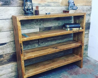 Scaffold board bookcase, bookcase, shelf, shelving unit, sideboard