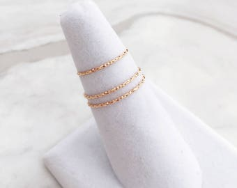 1.0mm Diamond Cut Sterling Silver Ring, Minimalist ring, Dainty ring, stackable ring, thin gold ring, stacking ring, dainty ring, skinny