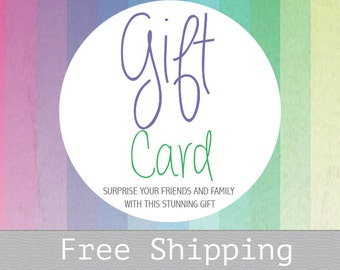 Gift Card - Wedding gift - Canvas gift card - Gift Certificate - Last Minute Gift - Same Day Shipping