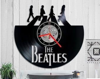 The Beatles vinyl clock record clock Wall clock record vinyl uhr Abbey Road John Lennon Paul Mccartne Beatles uhr Birthday gift Vinyl reloj