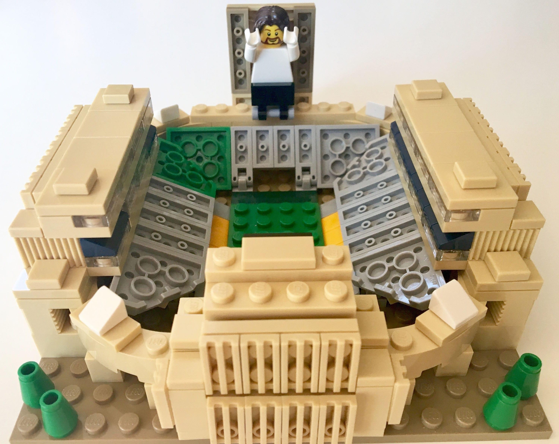 Notre dame bathroom accessories - Mini Notre Dame Stadium Custom Brick Set With Printed Instructions