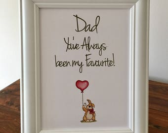 Fathers Day Gift Frame