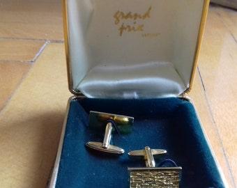 Beautiful Vintage Grand Prix  Cufflinks in Original Box-made in Germany
