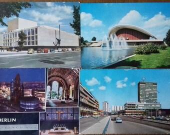 Lot of 5 Vintage 1970s Berlin Postcards/Germany/ 3 unused,2 used