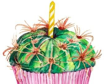 Cactus Cupcake Print