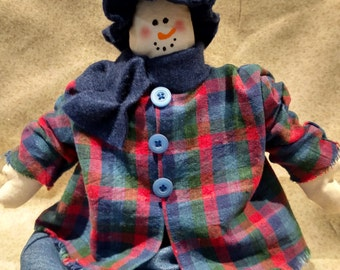 Snow lady,Winter,snowman shelf sitter,country snowman,shelf sitter