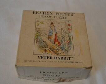 Beatrix Potter Jigsaw Puzzle Peter Rabbit 36 Piece - Vintage #4146