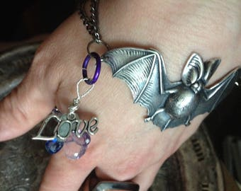 Bat Cross Love Bracelet Handmade chain style