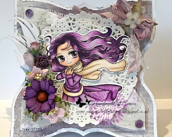 OOAK Delightful Abby in Purple