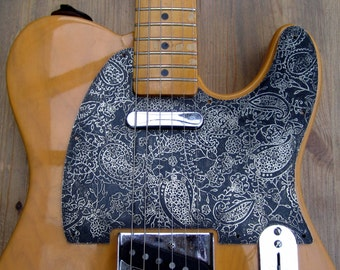 Etched Nickel Silver 8 Hole Paisley Pickguard