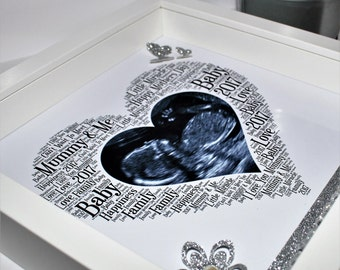 Mothers day scan photo 3d box frame