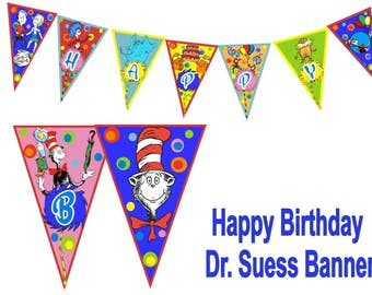 Dr. Suess Birthday Banner