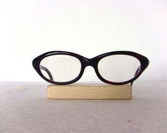 Rodenstock Tortoise Eye Glasses Celerina Maroon Color Oval Eyeglasses Small Sized Frame Eyewear FREE SHIPPING Rx Used Cat