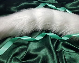 Kitten Tail Luxury White Cat